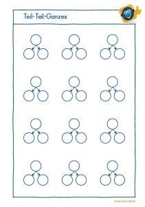Plankovorlage - Teil-Teil-Ganzes - Zahlentrippel