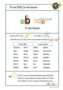 Arbeitsblatt - B wie Ball